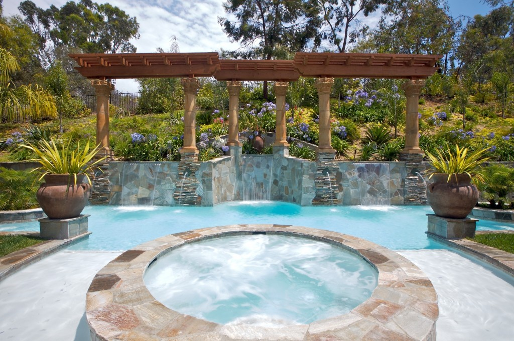 Add fun to your pool with a new water feature pool for Pool and spa contractors